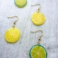 レモンとライムのピアス・イヤリング