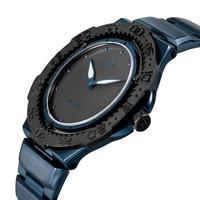 010-02 Nove トライデント Blue  Black  200m防水 超薄型ダイバーズウォッチ