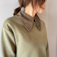 race collar  pullover(khaki)