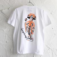 LINX|LINX × Kads MIIDA-HANAGASA TEE / WHITE(ORANGE INK)