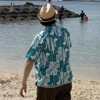 "TAB UNDERWEAR|Open Collar Shirt ""POOLSIDE"""
