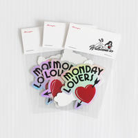 LINX|LINX MONDAY LOVERS STICKER SET / HEART and ARROW & Welcome to