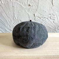 HIGHER| CHAMBRAY  BERET|COLOR-BLACK