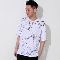 ビッグシルエットクラッシュプリントTシャツ(91UTS103)