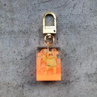 magma - Keyring 'SPY' / Yellow × Neon Orange