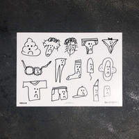 Ken Kagami 'Sexy Drawings' Sticker Set (15pc)