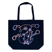 GASIUS 'TWO SMOKING DOGS' Tote Bag