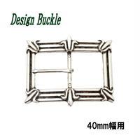 デザインバックル ピンバックル ユリの紋章 フルール・ド・リス 40mm幅 10006998
