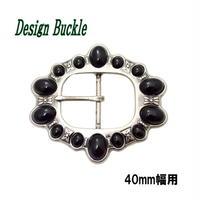 デザインバックル ピンバックル 石付きBLACK 40mm幅 10006997