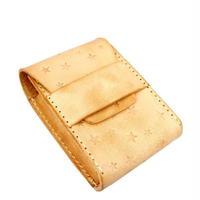 星型スタンピング 焦がしレザー(牛革)たばこケース(シガレットケース) ヌメ革 10007225