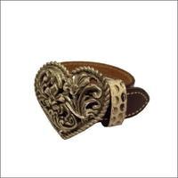 ハートブレス ダイヤカットハートバックル & ダイヤモンドパイソン (ニシキヘビ革)ブレス 10001422