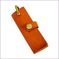 オイルレザー キーケース 牛革キーケース オリジナルハンドメイド キャメル 10007574