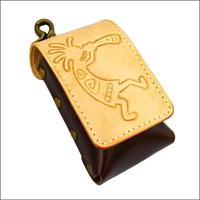 ヒートスティック型タバコ レザー iQOS ケース  10007428 レザー アイコスケース革 iqosケース ココペリ カービングクラフト DARK BROWN 本革 日本製 ハンドメイド