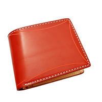 カービングクラフト レザーウォレット(二つ折財布) レッド カービング B  10006812