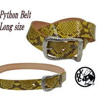 ベルト メンズ ロングサイズ ヘビ革 ダイヤモンドパイソン YELLOW 40mm幅 ギャリソン 19020203