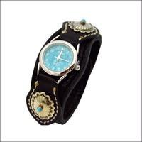レザーリストウォッチ 牛革 腕時計 BLACK 10006653
