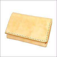 レザーコインキャッチャー付きコンパクト財布 レザーウォレット メンズ 焦がしヌメ革 10007815