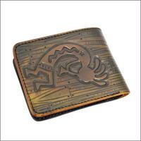 財布 二つ折り メンズ ココペリカービング クラフト レザーウォレット(二つ折財布) ダークブラウン 10007490