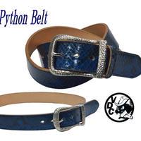 ベルト メンズ ヘビ革 ダイヤモンドパイソン BLUE 40mm幅 ギャリソン 19020202