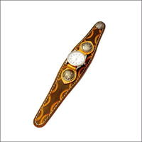 レザースタンピングクラフト腕時計 (リストウォッチ)10003538