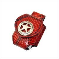 ダイヤモンド パイソン革 ZIPPO ライターケース (ホルダー)ベルトループ用 スターコンチョ 10006840