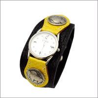 レザー(牛革) 水蛇  腕時計(リストウォッチ)5セントコンチョ 10006854