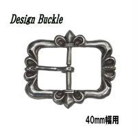 ベルトバックル 美錠 尾錠 デザインバックル ユリの紋章  40mm幅 19112902