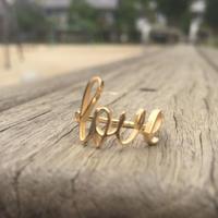 Love (L) リング K18GP