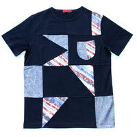 VUMPS RED パッチワークTシャツ