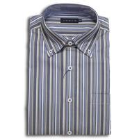 VUMPS ストレッチマルチストライプBDシャツ