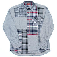 VUMPS RED クレイジーパターン切替シャツ グレー