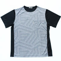 VUMPS ビッグシルエット ランダムグレンチェックプリントTシャツ