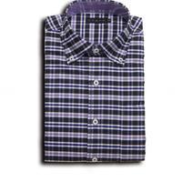 VUMPS ストレッチチェックBDシャツ