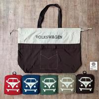 VW T1 BUS ポケッタブルツートントートバッグ(ラージサイズ)