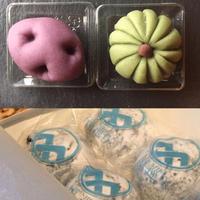 季節限定:上生菓子+福巡りセット 2箱【練り切り上生菓子4個+福巡り×4個・冷凍】 原材料表示
