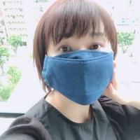 【舟形マスク】アイノマスク(天然藍の手染めマスク)