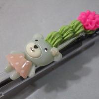 くまデコ抹茶ホイップ グレー/ピンク