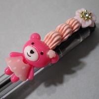 くまデコイチゴホイップ ピンク/オレンジ お花豪華版
