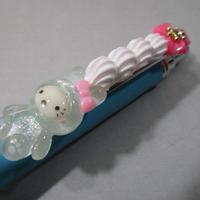 うさデコホイップ クリアー/ピンク お花とブルーボールペン豪華版