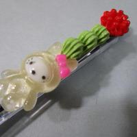 うさデコ抹茶ホイップ クリアー/レッド