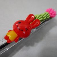 うさデコ抹茶ホイップ レッド/ピンク