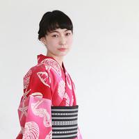 KAGUWA 浴衣・お仕立てあがりー貝づくし(赤)