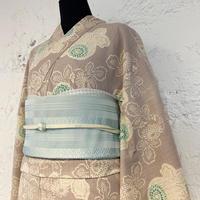 KAGUWA 浴衣・お仕立てあがりー菊(灰紫)