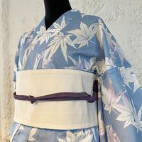 KAGUWA 浴衣・お仕立てあがりー紅葉(薄群青)