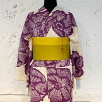KAGUWA 浴衣・お仕立てあがりー芙蓉(紫)