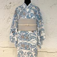 KAGUWA 浴衣・お仕立てあがりー更紗(浅葱)