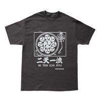 【抜染】侍ドラムンベース二天一流Tシャツ