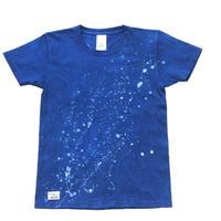 藍染めTシャツ 天の川模様ろうけつ技法