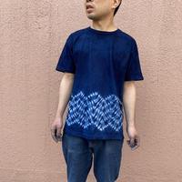 日頃の感謝を込めて大特価!!『一点物』藍染め杢目絞りTシャツMサイズ  男女兼用『一点物』