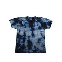 絞り模様 藍染めTシャツ